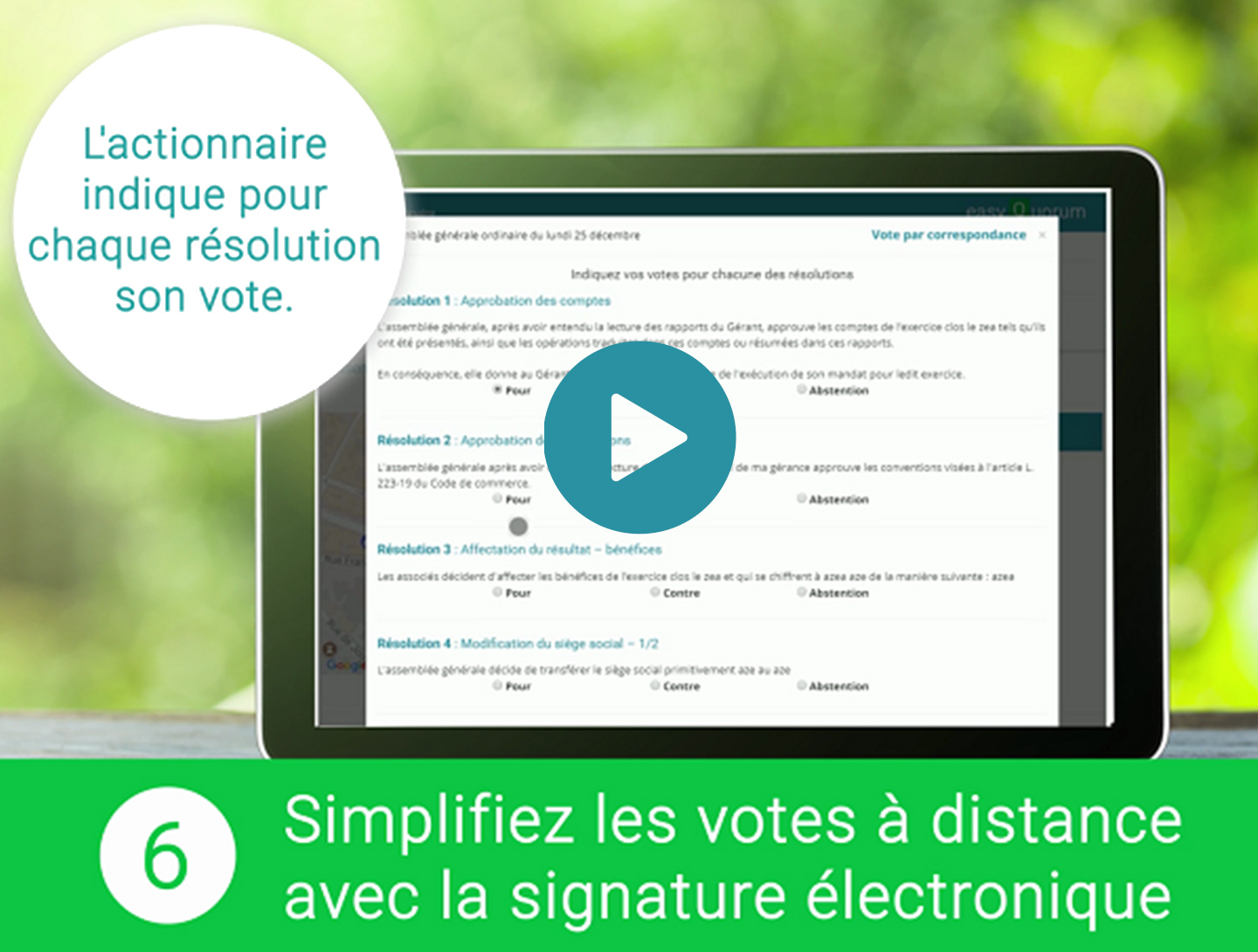 Vote à distance Electronique d'AG
