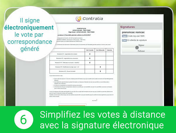 Signature électronique du vote à distance